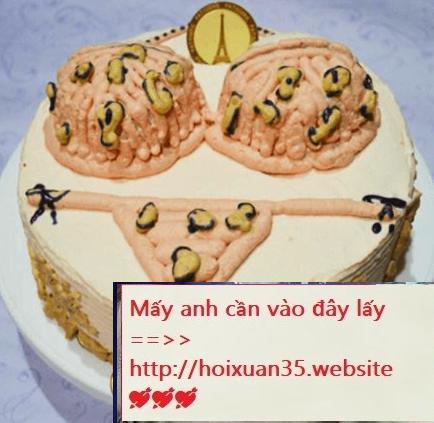 Bánh sinh nhật sexy dành cho các chàng trai