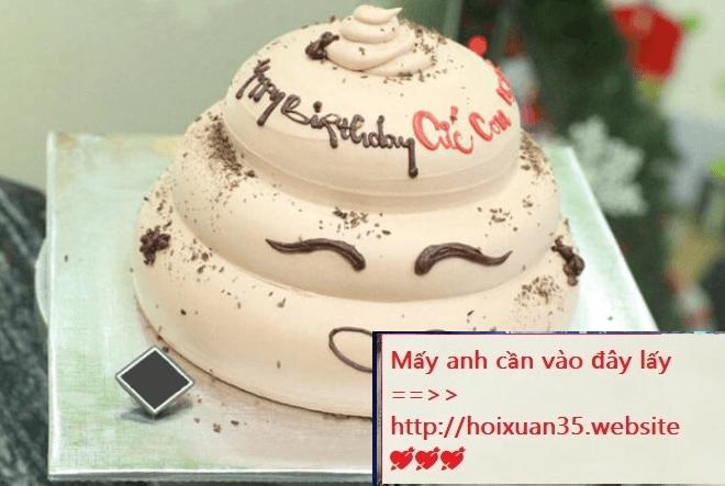 Bánh sinh nhật lầy lội